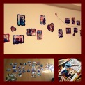 I have put up pictures on my wall with family and friends to bring me smiles when I look at them.