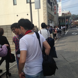 The longest line ever to the ramen restaurant